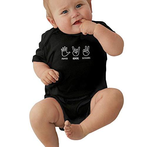 Paper Rock Tijeras Juego Divertido Diseño Bebé Lindo Manga Corta Camiseta Bebé Body Bebé