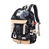 Rucksäcke Für Teenager Mädchen Schultaschen Frauen Chinesische Schriftzeichen Druck Rucksack Tasche Niedlichen Plüsch Ball Bookbag C2