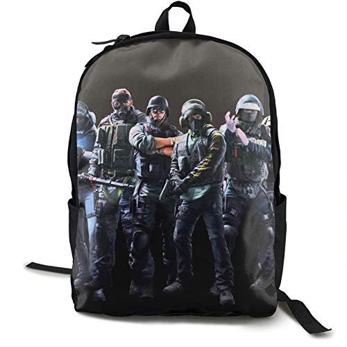 action Rainbow Six Brightling Shadow Vanguard Tablet Backpack Simple art Men,Women,unisex,adult Mountaineering,shopping,college mothers day present