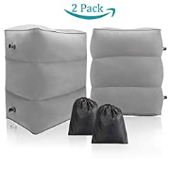 【MUST HAVE AIRPLANE ACCESSORIES FOR PARENTS】Fill the gap between two seats with this travel pillow to extend the seat length. The extra surface can allow childrens to lay down flat or lift their leg up for better sleep, or be a platform for kids to p...