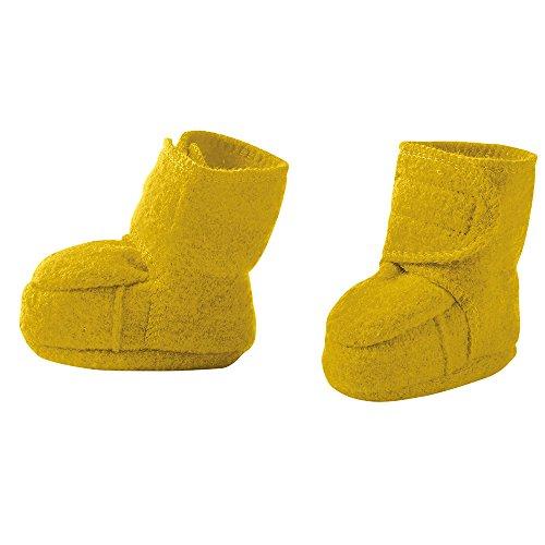 disana Baby Walk-Schuhe Bio-Merinoschurwolle, Curry, Gr. 01 (4-8 Monate)