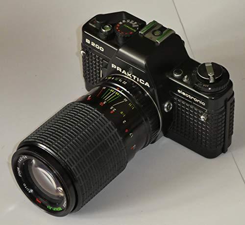 PRAKTICA B200 Electronic B 200 + Objektiv BEROFLEX MC Auto Zoom 1:4.0-5.6 70-200mm Ø52