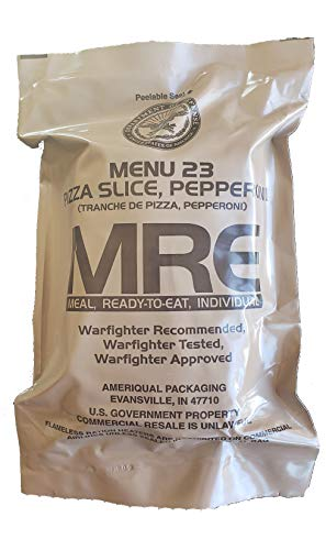 Genuine Military MRE Meal 23 with Inspection Date of 2021+ Pepperoni Pizza