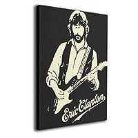 絵画 ポスター 30 * 40 Cm エリック・クラプトン Eric Clapton ポスター おしゃれ インテリア 壁掛け ウォールペーパー ウォール おしゃれ な部屋飾り ギフト キャンバスアート アート油画 パネル ャンバス