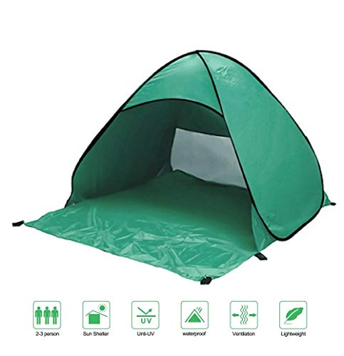 KSKD Automatic Pop Up Tent, Beach Camping Tent 165x150x110CM,2-3 person Outdoor UV Protection Camping Fishing Foldable Outdoor Beach UV Lightweight Waterproof tent
