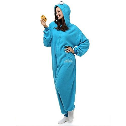 Mcdslrgo Kostum/Einteiler für Damen Herren Unisex Erwachsene, blau, AIZHIZI-