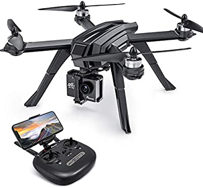 Potensic GPS Drone with 2K Camera for Adults, 130° Wide Angle HD Lens, Brushless Motor Drone with 20 Mins Flying Time, D85 RC Quadcopter for Beginners, Follow Me, Auto Return Home, Altitude Hold