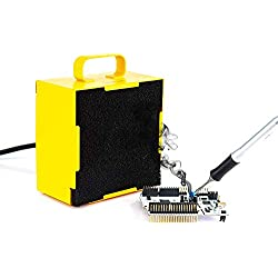 Desktop Small Soldering Smoke Absorber Soldering Remover Fume Extractor Air 2 In 1 Fan Strong Suction Grey