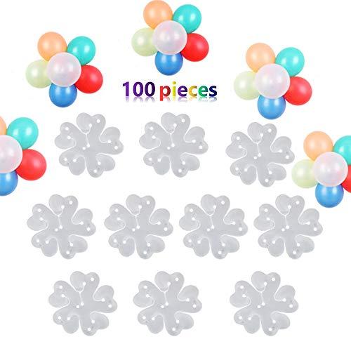 Nuluxi Luftballon Clips Luftballon Klemmen Blumen Form Ballon Clip Kleine Luftballon Clips Luftballons Zubehör Ballonverschlüsse für Verschluß Verbinder Ballon und Ballonkette Bogen Girlande Streifen
