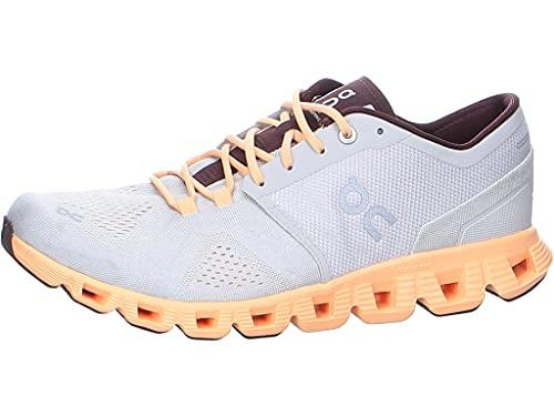 On Running W Cloud X Orange, Damen Laufschuh, Größe EU 42 - Farbe Silver - Almond