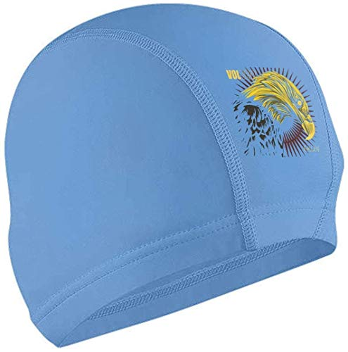 MKLQ Cuffia da Nuoto Volbeat Fallen Adult Waterproof No-Slip Short And Length Hair Swimming cap for Woman And Men Black