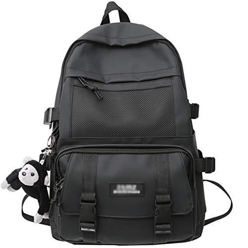 LZL Zaini Net Bag School Bags Borse Trend Casual Daypacks Secondary College Study Students Backpacks School Travel semplicità Backpack Moda Zaino (Color : Black)