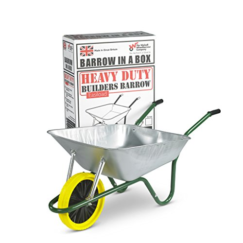 Walsall Wheelbarrows 85 Ltr Galvanized Wheelbarrow in a Box...
