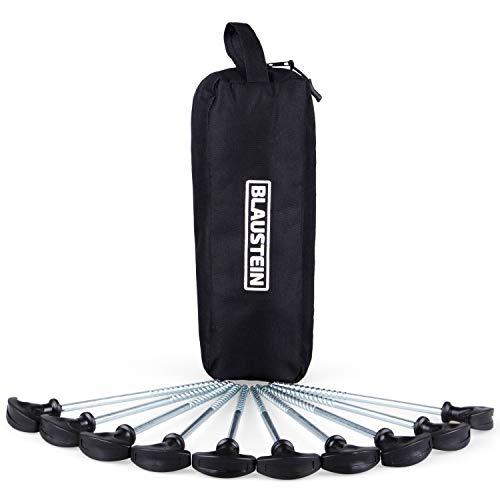 Blaustein Zeltheringe I Heringe fürs Camping I Lange Zelthaken aus Stahl I Premium Zeltnagel Set - 10 Stück