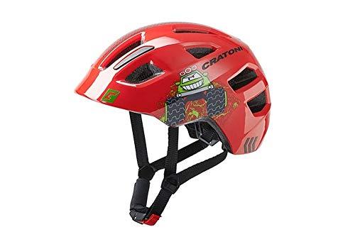 Cratoni Unisex - Casco de Bicicleta Maxster para Adultos, Color Rojo, Talla...