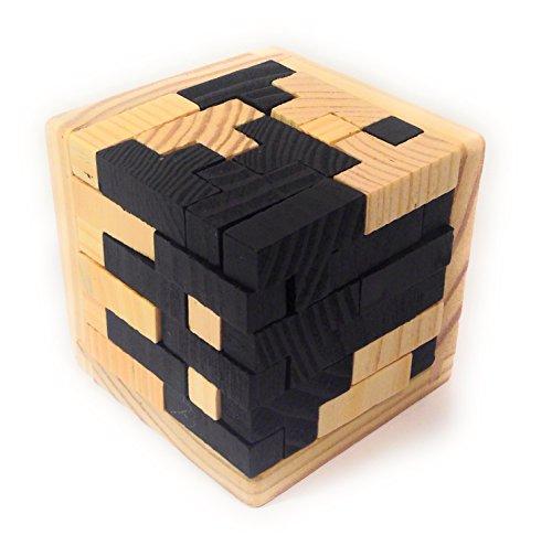 BSD Channel Tetris 3D Rompecabezas de Madera Natural - 54 Bloques en Forma...