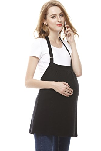 Radia Smart Pregnancy Protection Radiation Shielding Tank/Dress, 5G Anti-Radiation Maternity, Block EMF (Black)