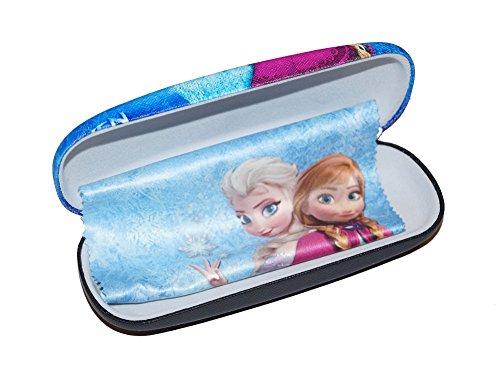 süßes Brillenetui für Kinder | Anna und Elsa inkl Microfasertuch - Hartschalenetui mit Metallscharnier