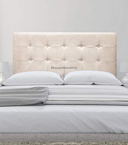 cabeceros de Camas Oslo cabeceros tapizados de Madera cabecero Acolchado cabecero Polipiel Blanco cabeceros para Dormitorio cabecero de Cama (Beige, 150 * 70)