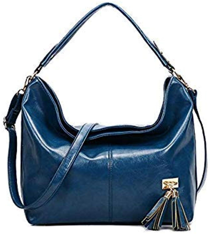 87c16241b Bloomerang Large Capacity New Fashion Vintage Retro Women Handbag Female  Bag Oil Wax Leather Ladies Bags