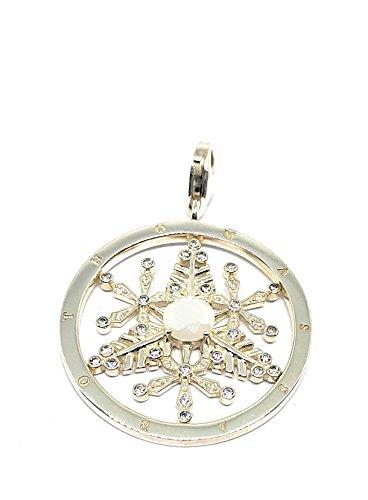 THOMAS SABO Schneeflocke Charm Anhänger Silber mit opakem Zirkonia T0116-093-14