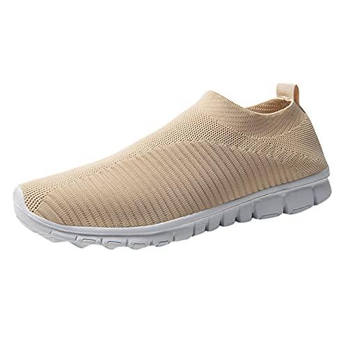 QASIMOF Zapatillas Malla Deportivas Mujer y Hombre EU 37-45 Transpirable Zapato Tallas Grandes Parejas Running Fitness Zapatillas de Trail Antideslizantes de Suela Blanda Comodas Minimalistas