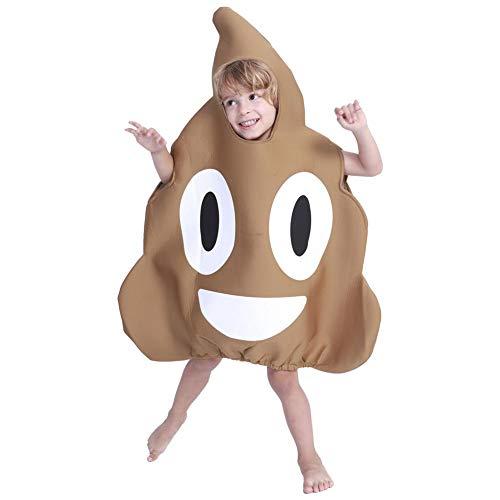 jinclonder Poop Disfraz de Halloween para niños, Disfraz de Emoji Cosplay Show Disfraz de Navidad Juguete de Esponja Ropa Divertida Linda Regalos para niños