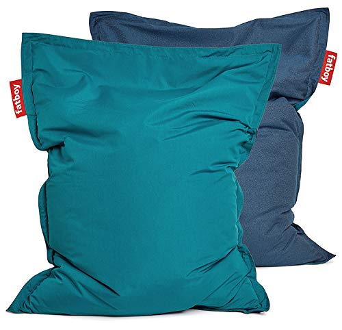 Fatboy Original Sitzsack Outdoor   Limitierte Sonderausgabe Duo Tone   140 x 180 cm in Blau (Blautöne Petrol & Deepness)