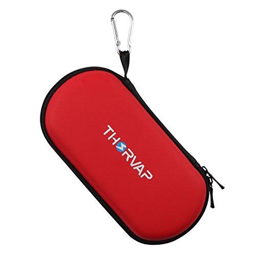 THORVAP E Zigarette eGo Aufbewahrungsetui Spielraum Tragen Zipper Schutzhülle für E-Zigarette und Zubehör, ohne Nikotin (Rot)