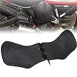 HIYOYO Motorcycle Universal Leather Side Saddle Shield Heat Deflector Compatible with Harley Sportster XL Dyna Softail Touring Street Road Glide Honda Yamaha Suzuki Kawasaki