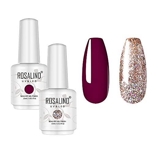 ROSALIND Gel Nail Polish Color Black Nail Beauty