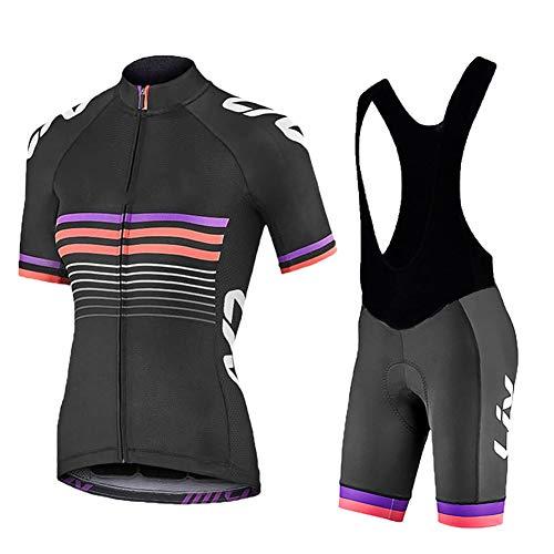 ZEMER Maillot Ciclismo Mujer Cclismo Conjunto de Ropa + Culo