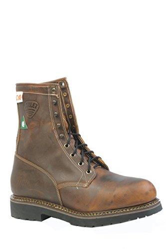 Amerikanische Schuhe - Arbeitsschuhe BO-5171-EEE (Starke Fuß) - Mann - Leder - braun - 13