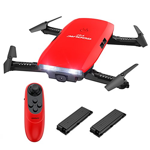 GoolRC T47 drone 6-axes Gyro WIFI FPV avec 720P Caméra HD Quadcopter G-capteur pliable RC Selfie Drone RTF avec une batterie supplémentaire