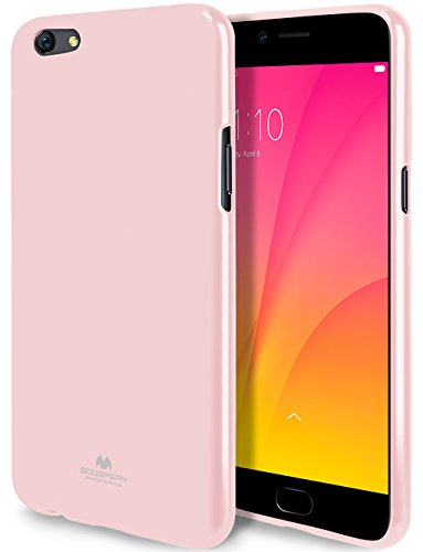 Goospery Pearl Jelly for Oppo R9S Plus Case (2016) with Screen Protector Slim Thin Rubber Case (Pink) OPPOR9SP-JEL/SP-PNK