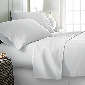 1000 Thread Count 100% Long Staple Egyptian Pure Cotton – Sateen Weave Set of 2 Queen Silky Soft & Smooth White Pillow Cases