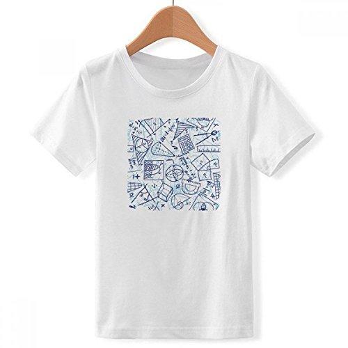DIYthinker Pintado a Mano matemáticas Regla calculadora ilustración de Cuello Redondo Camiseta para Chico X-Grande