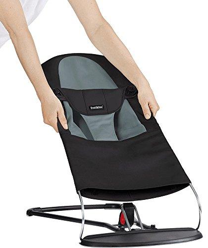 Zusätzlicher Stoffsitz für Babywippe (Schwarz/Dunkelgrau)