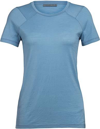 Icebreaker Nature Dye Galen T-Shirt Col Ras-du-Cou Femme, True Indigo lt Modèle XS 2020 T-Shirt Manches Courtes
