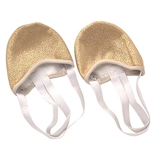Marekyhm-es Medio Sole Sole Ballet Pointe Dance Shoes Rhythmic Gymnastics Slippers 2 Colores Dance Foot Set Toe Set Practice Dance Shoes (Color : Gold, Size : Large)