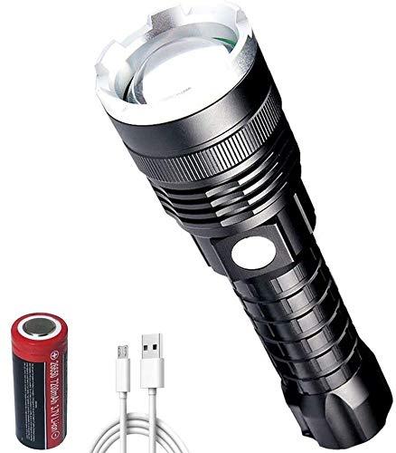 Windfire Linterna recargable [2021 NEW] XHP70 Linterna LED 12000 lúmenes alta potencia profesional, linterna con batería de 7200 mAh, zoomable, 5 modos de iluminación para pesca, camping al aire libre