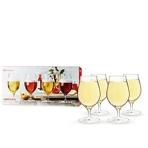 Spiegelau & Nachtmann Cidre Set/4, Verre Cristal, Cristal Clair, 9 x 9 x 17,5 cm, 4 unités de