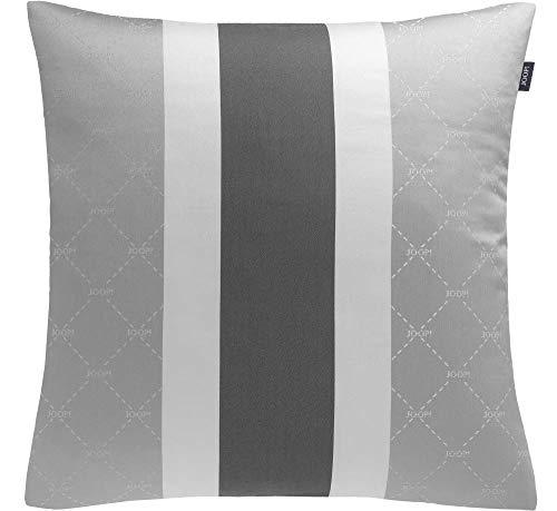 Joop! Living Zierkissenhülle ohne Füllung Signature grau Streifen Stripes