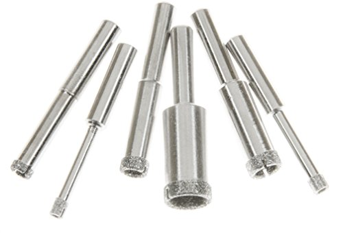 """SE Diamond Hole Saw Set with 80 Grit and 1/4"""" Shank Size (6 PC.) - DH6HS"""