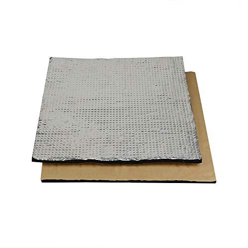 SOOWAY - Pannello isolante termico adesivo in cotone e lamina di schiuma leggera per hotbed di stampante 3D, compatibile con Creality CR-10S, CR-10, Ender 3, Anet E12, Anet A8, 300*300mm, Argento, 1