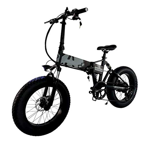 sunyu Bicicletas eléctricas 350w 36v 10AH 20 Pulgadas Neumático Gordo Campo de Nieve Vehículo eléctrico asistido para Adultos Negro