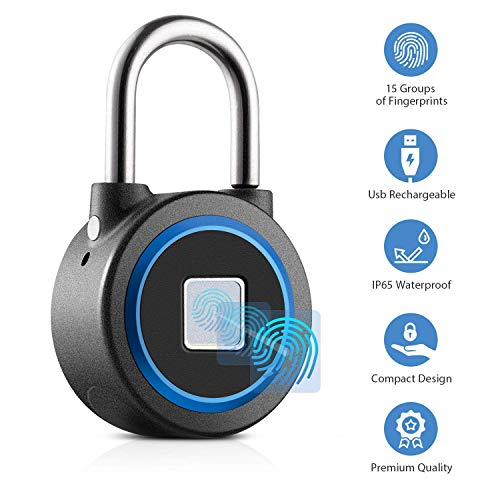 Fingerprint Padlock Thumbprint B...