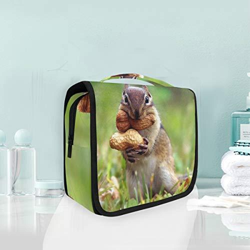 Make-up Kosmetiktasche Eichhörnchen Erdnuss Tragbare Lagerung Reise Kulturbeutel