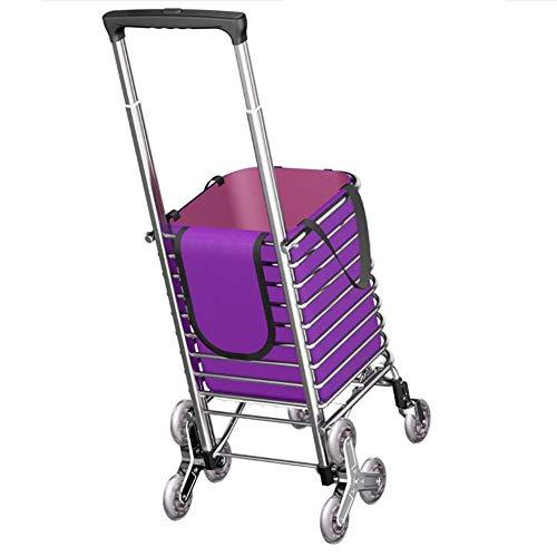 KAUTO Carro de Compras Plegable/Carro para Subir escaleras/Carro portátil para el hogar con Bolsas de Compras/Remolque para Ancianos