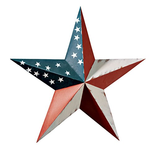 Miles Kimball 341684-840853123187 Maple Lane CreationsTM American Barn Star, One Size Fits All, Multi